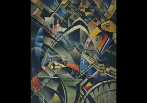 Christopher Richard Wynne Nevinson, The Arrival 1913 © Tate