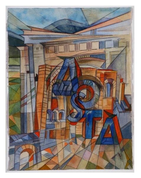Uberto Bonetti. Sintesi visiva di Aosta