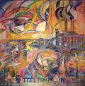 David Burliuk, Harlem River, 1924