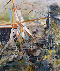 Hernan Bas Colored plastic complex of noise + dance + joy (2009) at Lehmann Maupin