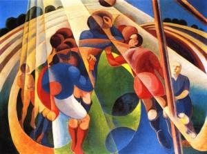 Gerardo Dottori. Partita di calcio. 1928. Private Collection.