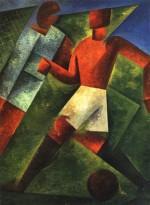 Roberto Marcello (Iras) Baldessari. Giocatore di Pallone. 1920. Museo d'Arte Moderna e Contemporanea, Trento e Rovereto