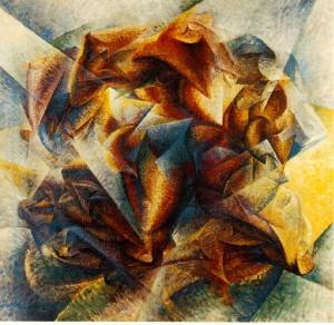 Umberto Boccioni. Dynamism of a Soccer Player Dinamismo di un foot-baller (Dynamism of a soccer player). 1913. MoMA, New York