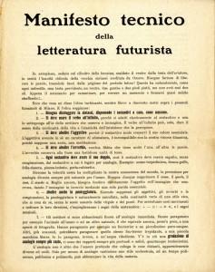 manifesto technico litteratura futurista