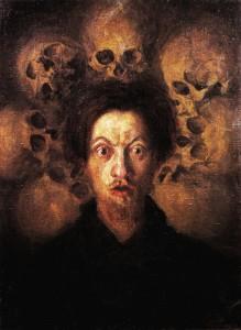 russolo self portrait with skulls