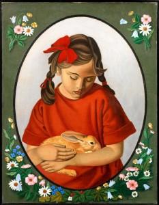 Gino-Severini-La-fillette-au-lapin-1922-olio-su-tela